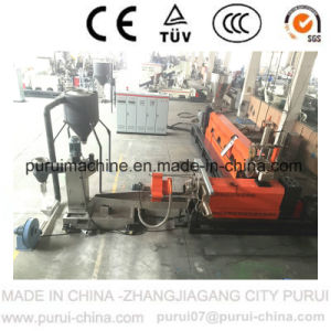HDPE Flakes Single Screw Plastic Pelletizing Machine with Two Stages pictures & photos