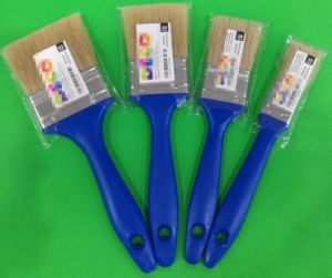 White Bristle Mix Filament with Blue Plastic Handle Paint Brush pictures & photos