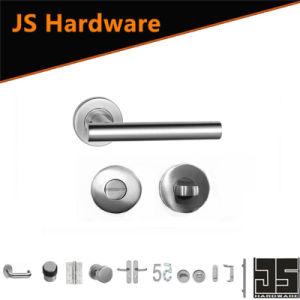 Jiangmen Door Hardware Steel Base Door Handle with Round Rose pictures & photos
