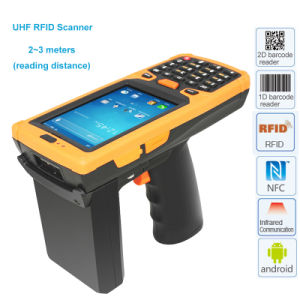 Android OS RFID Reader Module 1d and 2D Pistol Barcode Scanner pictures & photos