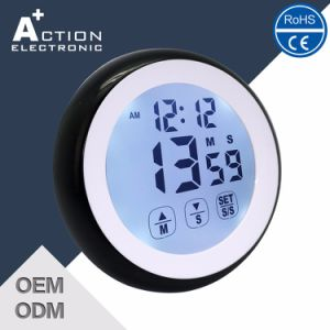 Round Shape Touch Positive Screen Timer with Clock pictures & photos