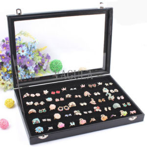 VAGULA Hot Selling Jewelry Display Box 100PCS Ring Box Cufflinks Case 12 pictures & photos