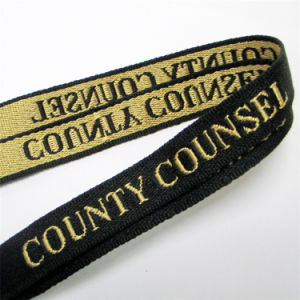 Quality Nylon Woven/Jacquard/Braided Logo Custom Lanyard for Convention pictures & photos