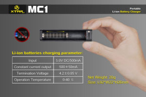 2016 Vivismoke Hot Selling Universal Xtar Mc1 Charger Fore Cig Battery pictures & photos