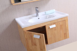 N&L 2017 Wall Mounted Solid Wood Bathroom Vanity pictures & photos