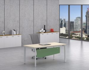 White Customized Metal Steel Office Staff Desk Frame with Ht65-1 pictures & photos