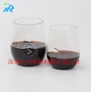 Pits Plastic Cup Appliance with Fingerprint Red Wine Glasses