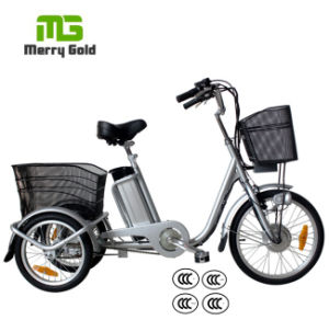 Small 3 Wheel Pedal Assist 36V 250W Electric Trike pictures & photos