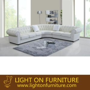 Italian Modern White L Shape Leather Sofa (L071) pictures & photos