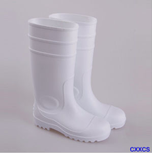 High Quality PVC Safety Shoes Rain Boots Building Site Protection Boots pictures & photos