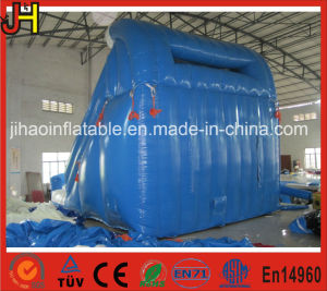 Double Lane Inflatable Blue Water Slide with Climbing pictures & photos