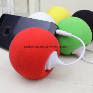Mini Sponge Round Ball 3.5mm Plug Portable Mobile Speaker pictures & photos