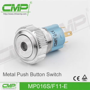 16mm Metal Small on off Push Button Switch (MP16S/F11Z-D) pictures & photos