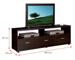 Modern MFC Laminated Wooden Cabinet TV Stands (HX-DR190) pictures & photos
