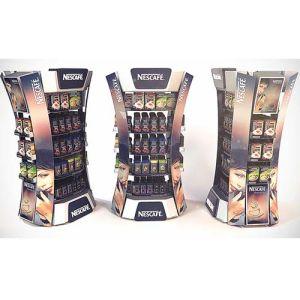 Shower Gel Cardboard Floor Display Shelf pictures & photos