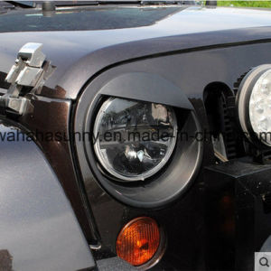 High-End Style ABS Wrangler Headlight Angry Bird Style Trim Cover for Jeep pictures & photos