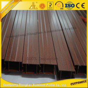 Zhonglian Wood Grain Aluminum Shutter Window pictures & photos