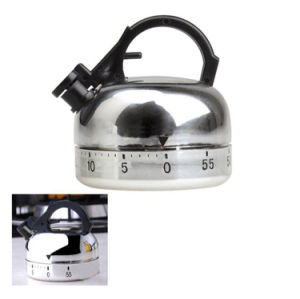 Clock Counting 60 Minute Kitchen Timer Alarm Mechanical Teapot Shaped Timer pictures & photos