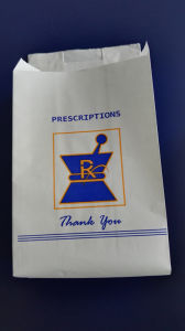 Kraft Paper Die out Handle Pharmacy Bag pictures & photos