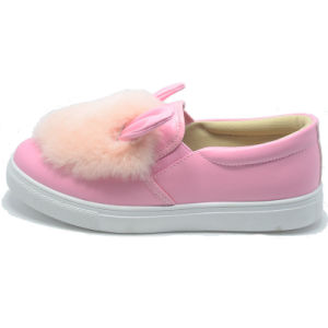 Rabbit Plush Rubber Injection Student Women Animal Lady Pink Shoes pictures & photos