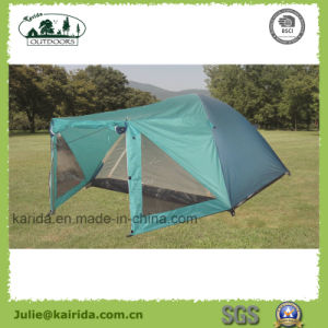 4p Double Layer Camping Tent with One Living Room pictures & photos