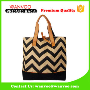 Promotional Custom Fashion Lady Handbag Reusable Thick Cotton Tote Shopping Canvas Bag pictures & photos