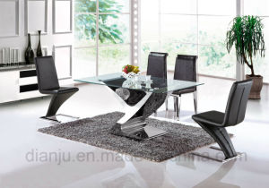 Hot Sale 2017 New Modern Furniture Glass Dining Room Table (A6033) pictures & photos