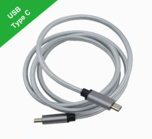 Type-C to Type-C Cable with Braided Aluminium Alloy Shell pictures & photos
