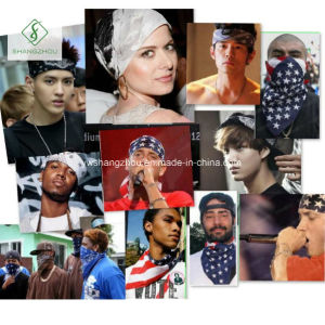 Unisex Hip-Hop Black Paisley Bandana Headband Cashew Multifunctional Square Scarf pictures & photos