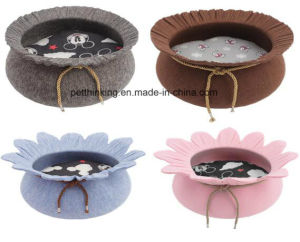 Eco Felt Flower Pet House, Puppy Dog Kennel, Cat Beds pictures & photos