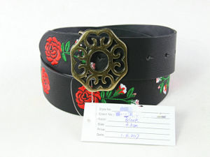 Fashion Factory Price Embroidery Leather Belt
