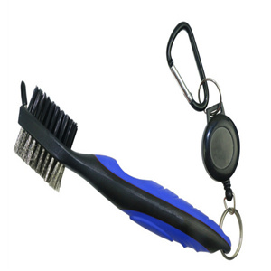Deluxe Golf Cleaning Brush with Retractor Golf Groove Cleaner