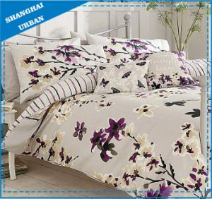 Floral Painting Design Microfiber Duvet Cover Bed Linen pictures & photos