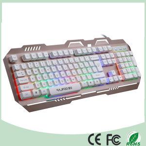 Metal Design Colorful LED Backlight Computer Mechanical Gaming Keyboard (KB-906EL-C) pictures & photos