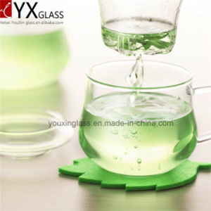 300ml High Quality Borosilicate Heat-Resistant Glass Cup Set/Single Wall Glass Tea Cup Mug Set/Flower Booming Glass Cup Set pictures & photos