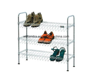 DIY Adjustable Chrome Shoe Rack Organizer Factory (CJ-C1132) pictures & photos
