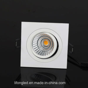 Aluminum Lamp Body 90mm Cut out Square LED COB Downlights pictures & photos