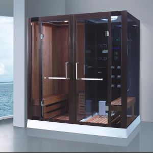 Big Size 2000mm Rectangle Steam Combined Sauna with Shower (AT-8862) pictures & photos
