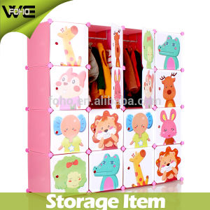 Design Closet Organizer Bedroom Furniture Kids Plastic Wardrobe pictures & photos