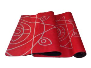 Red Color Rubber Yoga Mat Sport Mat