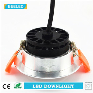 Dimmable LED COB Downlight 3W Warm White Aluminum Sand Silver pictures & photos