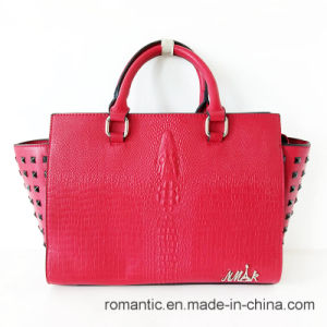 Promotional Designer Lady PU Rivets Handbags (LY05095) pictures & photos