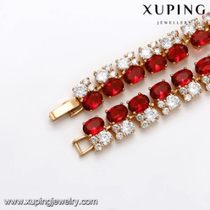 71266 Fashion Luxury Gold Plated Big Zircon Jewelry Bracelet pictures & photos