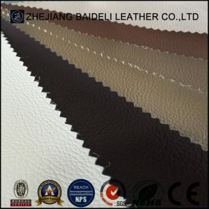 Litchi Cross Design PVC Leather Texture Fabric for Sofa/Furniture Upholstery pictures & photos