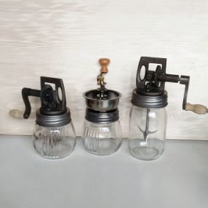 Colorfull Glass Mason Jars with Coffee Bean Mill Cap pictures & photos