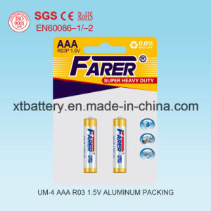 Chemical Non-Hazardous Certification Approvals 1.5V Farer Super Heavy Duty Dry Battery (R03 AAA, Um-4) pictures & photos