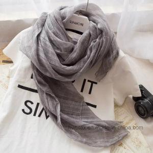 High Quality Plain Dyed Linen/Cotton Stole / Scarf (HWBC03) pictures & photos
