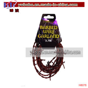 Halloween Carnival Party Brown Barbed Wire Garland Decoration (H8076) pictures & photos