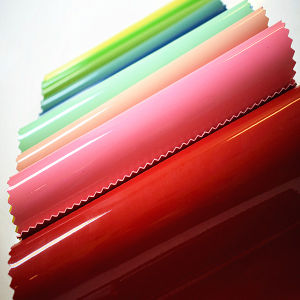 Good Quality Synthetic Patent Leather Without Wrinkles for Bags (HTS005) pictures & photos