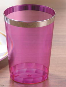 Glass, Tableware, PS, Transparent, Disposable, Colorful, Silver Rim, Plastic Cup pictures & photos